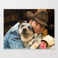 Cowboy's Best Friend Canvas Print