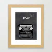 Minimalist Quote: Write Drunk; Edit Sober Framed Art Print