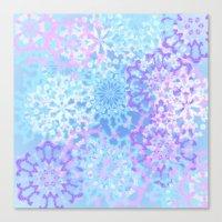 Pastelflakes Canvas Print
