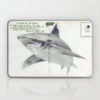 Postcard Shark Laptop & iPad Skin