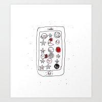 My Space Phone Art Print