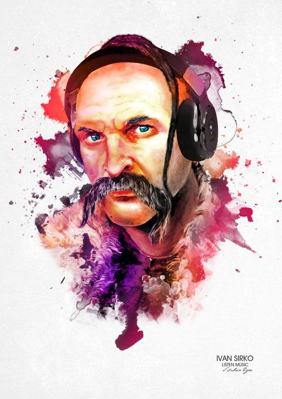 Cossack Ivan Sirko listen music Art Print