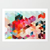 abstract Art Prints featuring Heavy words 01. by Three of the Possessed
