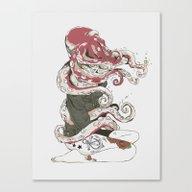 My Head Is An Octopus Canvas Print