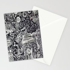 White/Black #2  Stationery Cards