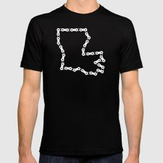 Ride Statewide - Louisiana Mens Fitted Tee Black SMALL