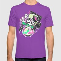 DJ GEEK! Mens Fitted Tee Ultraviolet SMALL