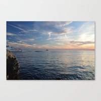 Sunset in Croatia  Canvas Print