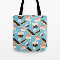 Sweet Things (on Blue) Tote Bag