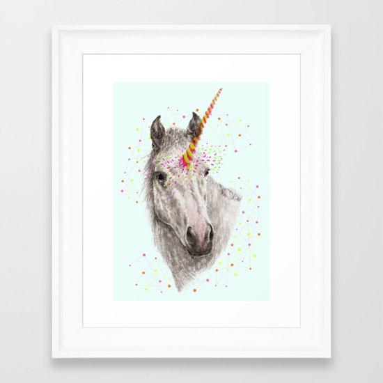 Unicorn V Framed Art Print