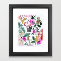 Say Meow! Framed Art Print
