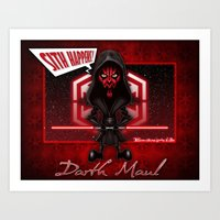 Darth Maul...Sith Happen… Art Print