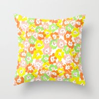 Morning Glory  - Sun Multi Throw Pillow