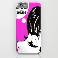 iPhone Cases featuring Pop Art Badass Bitch on Wheels by hellosailortees