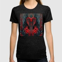 Seen Through Flames And … Womens Fitted Tee Tri-Black SMALL