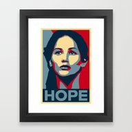 Framed Art Print featuring Hunger Games - Hope by Flash Goat Industrie…