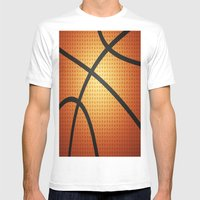 Basketball Mens Fitted Tee White SMALL