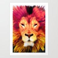 BIG CAT LION Art Print