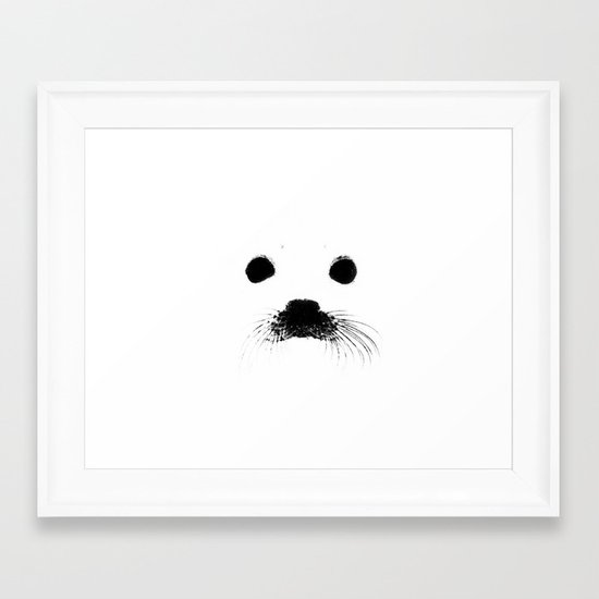 Seal your face Framed Art Print