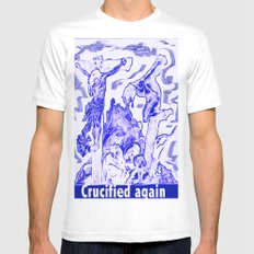 Crucified again White Mens Fitted Tee SMALL