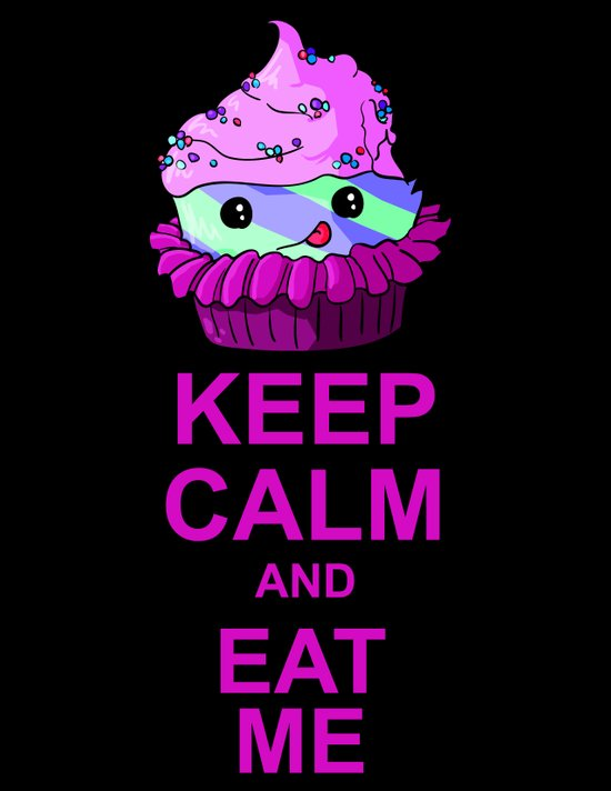 Keep Calm And Eat Me Art Print