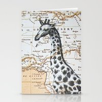 Giraffe In Africa: All N… Stationery Cards