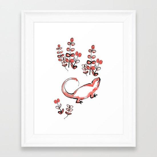 Happy Lizard Framed Art Print