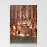 Make a Wish at Trevi Fountain Stationery Cards