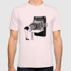 Selfie Mens Fitted Tee Light Pink SMALL