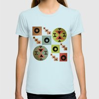 geometric Womens Fitted Tee Light Blue SMALL