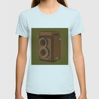 Rollei Womens Fitted Tee Light Blue SMALL