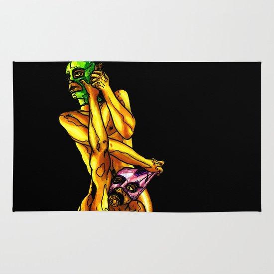 """Raw Power"" by Cap Blackard Area & Throw Rug"