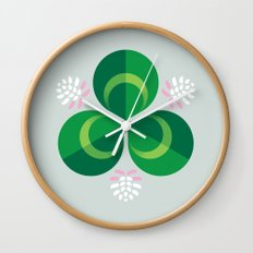 White Clover Wall Clock