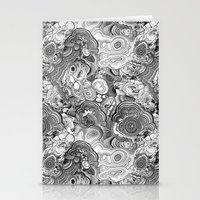 Malachite black and white Stationery Cards