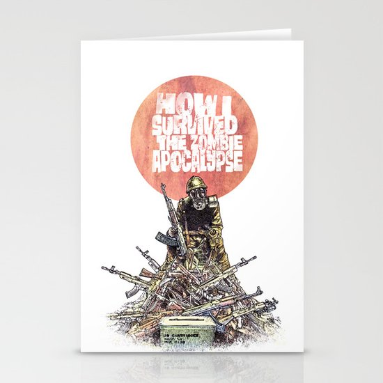 How I Survived The Zombie Apocalypse Stationery Card
