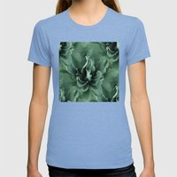 Agave Repeat Play Womens Fitted Tee Tri-Blue SMALL