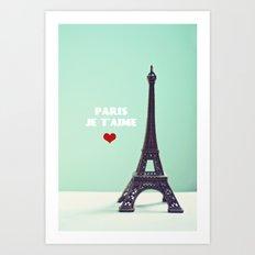 Paris Je T'aime Art Print