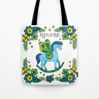 Rock-A-Bye (Blue) Tote Bag