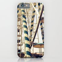 iPhone & iPod Case featuring Vintage Ferris Wheel in Marseilles, France by shari hochberg