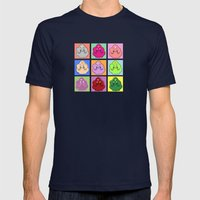 Lumpy Space Prince ala Warhol Mens Fitted Tee Navy SMALL