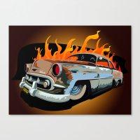 Caddy Rat Rod Canvas Print