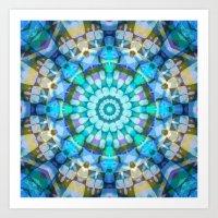 Into The Blue Kaleidosco… Art Print