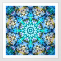 Into the Blue Kaleidoscope Art Print
