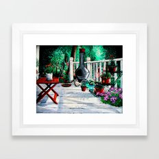 Back Porch Garden Framed Art Print