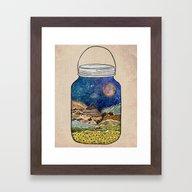 Framed Art Print featuring Star Jar by Jenndalyn