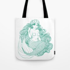 Flowers and Scales Tote Bag