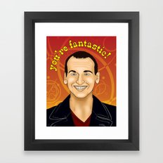 Ninth Doctor - You're Fantastic! Framed Art Print