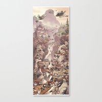 Ninja Scroll Canvas Print