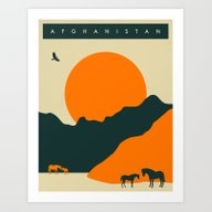 Visit Afghanistan Art Print