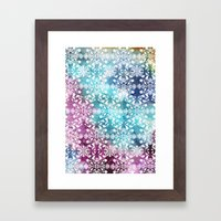 Motif Pattern_rainbow Framed Art Print